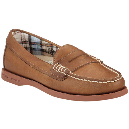 From Saturday shopping to sunny sailing excursions, slip on the Sperry Top-Sider Women's Hayden Loafer for classic hand-sewn style and renowned Sperry traction. Wave-Siping on the non-marking rubber sole gives you a sure footing in wet or dry weather and the soft leather construction ensures all-day comfort. - $76.46