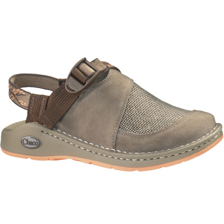 Entertainment Chaco's Women's Woodstock Shoe combines the comfort of your river sandals with the smooth styling of your favorite leather shoe. Full-grain leather uppers keep things looking classy in the front so you can pair the Woodstock, khakis, and a button-down shirt to look good for a night out. An AddStride footbed allows you to adjust the instep fit to accommodate your foot shape, and a soft microsuede lining feels fine against your skin. Even if your night out turns into an extended jaunt around town, the Vibram Gunnison outsole flexes comfortably to keep your feet from aching the next morning. - $41.98