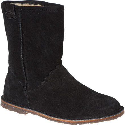 Wondering how you can have the  1/4ber-casual look and super-comfy feel synonymous with EMU without sacrificing traction and support' EMU answers with the Women's Inverlock Boot. The classic sheepskin upper with plush lining features a reinforced leather heel cup so that, a few months down the road, the boot won't get saggy at the bottom and lead to the dreaded elephant-ankle look. Slip on the Inverlock and you'll instantly notice how the hardened rubber sole with notched heel offers substantially more support and a lot more traction than those squishy EVA soles. - $29.79
