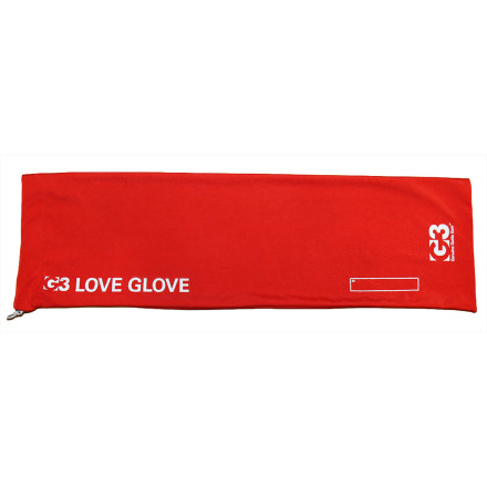 Ski If you've ever found the remnants of energy bar crumbs, bits of fleece fabric, or your dog's hair on your skins, invest in the G3 Love Glove. This nifty spandex sack stashes your skins for storage and while you ski. It also keeps your backpack free of sticky glue and gunk, and your skins free from small debris particles. - $24.47