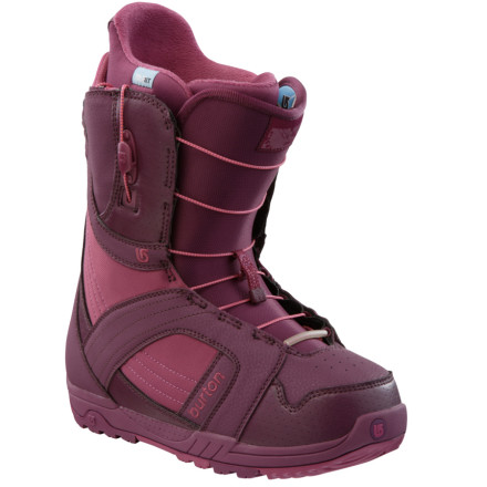 Snowboard Theres a reason the Burton Womens Mint Snowboard Boot has been the number-one selling womens boot in the known universe for seven years in a row. Plain and simple, its a great boot at a great price. Burton incorporated its groundbreaking Speed Zone lacing into the shell, so you can easily and precisely dial in the fit of the upper and lower boot parts. This could also explain the Mints massive popularity, because who has time or patience to deal with standard lacing' - $89.97