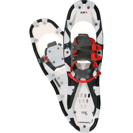 Camp and Hike Rise above deep snow while you explore the backcountry and keep your footing on slippery trail ascents thanks to the Louis Garneau Ergo Trail FX Epic II Snowshoe. Slide your foot into the ergonomic-fitted harness, lock down the ratcheting straps, and trod down the trail in comfort. An aluminum frame and synthetic deck material keep things light and stand up to season after season of hiking through the woods. Consider this do-it-all shoe the reliable choice for winter fitness or for simply conquering your cabin fever. - $98.97