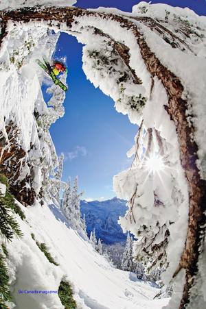 Ski | Adam Roberts drops in on a gorgeous day in the Mount Baker, WA backcountry.
