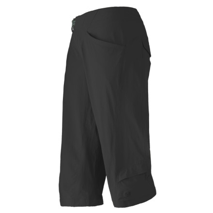 Camp and Hike Whether you're hiking on trail or riding your cruiser around town, the Mountain Hardwear Women's Cortina Falls Pedal Pusher Pant provides excellent comfort, air flow, and style. This adventure-ready capri comes with stretchy, quick-dry material for performance while hiking and bouldering and a hidden cinch cord on the bottom hem for a perfect fit. - $25.98