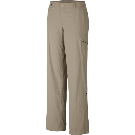 Camp and Hike Moisture-wicking, sun-combating, rip-stopping, and roll-upping, the Columbia Women's Aruba Roll Up Pant does it all. Shorten its legs for a walk through water or high-stepping on rock, and play without worry under its UPF 30 shade and water-repellent Omni-Shield. - $33.71