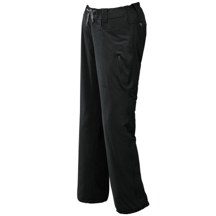 Climbing Outdoor Research made its Women's Ferrosi Softshell Pant with lightweight, durable, and highly breathable fabric for extra comfort during your hiking and rock-climbing adventures. It's low-profile waist fits smoothly under a harness, and its tricot waistband reduces chafing as you climb. The articulated knees bend and flex easier when you're scrambling on the approach or stretching for a difficult toe hold. - $74.95