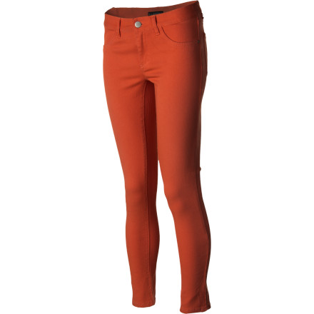 Surf Skinny in fit but overstuffed with style, the Billabong Women's Peddler Denim Pant comes in vibrant color options that share the same shades some of summer's best favors such as sunsets and popsicles (or frozen cocktails). Pair the Peddler with a cropped tank, oversized tunic, or just a plain ol' teeit's hard to wrong with  these stunning skinnies. - $39.17