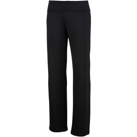Fitness Slip into the Columbia Women's Anytime II Pants before you slip into your yoga class. These flexible pants pack sweat-ready tech to keep you cool and comfortable when you're feeling the burn. - $27.48