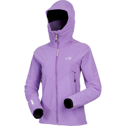 Designed for year-round, technical mountaineering, the Millet Mountaineering Women's Pro Lighter WDS Hoodie Softshell Jacket boasts the latest and greatest in alpine technology. With everything short of a heated lounge, this intuitive jacket accommodates the most acrobatic vertical ice sequences while sloughing off the meanest weather. - $99.95