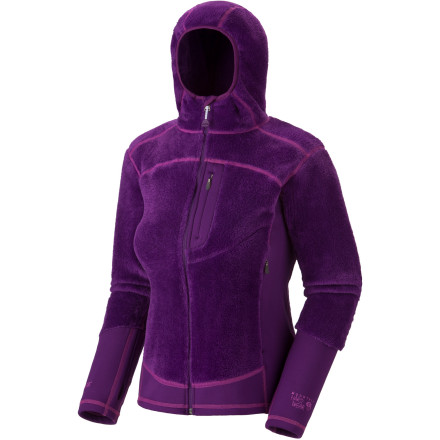 Mountain Hardwear designed the Monkey Woman Lite Fleece Jacket for ladies who cant stay off the trails despite the changing seasons. When the leaves are just beginning to turn and the air is chilly, this fleece keeps you warm. - $82.48