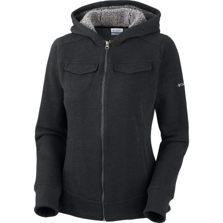 Wake The Columbia Women's Pike And Pine Fleece Jacket offers clean, urban style, and enough all-over warmth to keep you toasty on cool mornings commutes or walks to the coffee shop for a wake-up beverage. - $44.97