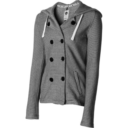 Surf Reach for the Roxy Women's Cuddle Jacket when you want fleecy comfort and peacoat style while you run errands, window shop, or watch the surfers from the pier. - $64.50