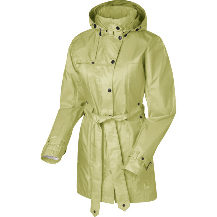 No matter what the weather is doing, you won't be hiding out'tackle the day wearing the Sierra Designs Women's Clandestine Trench Coat. Its name notwithstanding, this full-featured rain jacket is packed with fashionable flair that stands out in the crowd at the farmer's market or taxi stand, even as it offers reliable protection from inclement weather. - $138.95