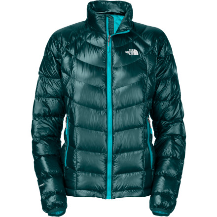 The North Face took the simple-and-lightweight-is-better approach to designing the Women's Super Diez Jacket. The down-filled Super Diez keeps serious athletes warm on nasty summit attempts and dangerous ice routes. If it's not for the faint-of-heart, it should probably done in a Super-Diez. - $209.37