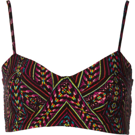 Surf The sexy, summery Billabong Little Mama Bralette Top features adjustable straps and a smocked back panel. - $29.45
