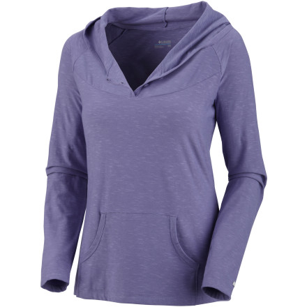 The Columbia Women's Rocky Ridge Long-Sleeve Hooded Shirt gives you a lightweight, super-soft feel and a relaxed, casual look. This top keeps you looking and feeling good whether you are headed to class, hanging out at home, or headed to the corner bar to grab a beer. - $39.95
