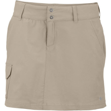 Camp and Hike Skirts are flattering and comfortable, but typically not too suitable for hiking. Check out the breathable and stretchy Columbia Women's Silver Ridge Skort for skirt style with short functionality. - $31.96