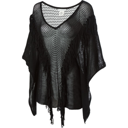 Surf The Billabong Women's Put Me On Short-Sleeve Shirt is part, poncho, part beach cover-up, and part mesh scandal. Wear this sexy, ephemeral top over your bikini at the beach or wear it by itself in the bedroom. You can even rock it around town over a cami or tank. - $27.20