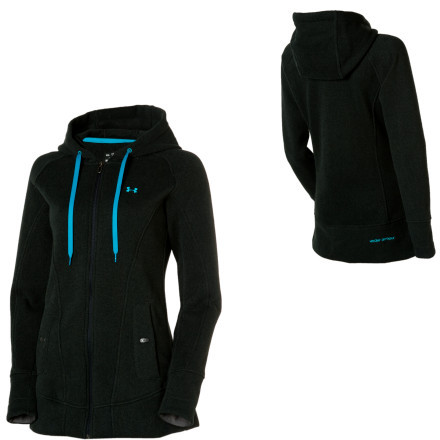 Fitness It may be fall where you live, but that doesn\t mean it\s too soon to start getting ready for winter. With its soft feel and insulating ColdGear fabric, Under Armour\s Wintersweet Full-Zip Hooded Sweatshirt for women is a great way to start making the transition. Wear it before your workout, as you\re cooling down, or as a casual top on a cool day. - $69.97