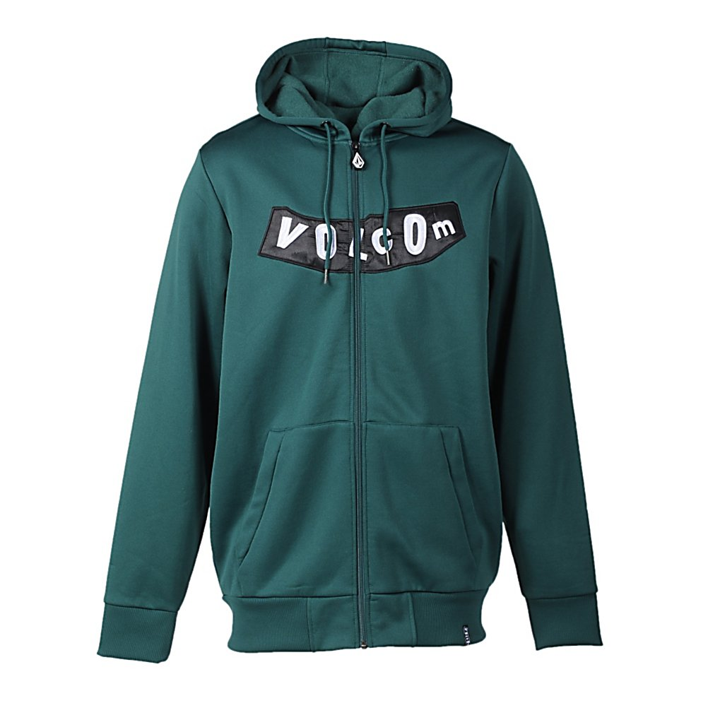 Ski Volcom Pistol Hydro Mens Fleece Hoodie 2012 - Feel the warmth and comfort of the Hydro Fleece material when you put on the Volcom Pistol Hydro Fleece Hoodie. Designed to be worn as a midlayer when hitting the mountain this winter or a way to stay warm on the cooler nights or days of the year, this Hoodie was made with Volcom's V-Science Epidermis second layer offering additional temperature control to keep you comfortable. This full zip Pistol Hydro Fleece Hoodie is both a comfortable and stylish choice when the temperatures begin to descend. . Hood Type: Fixed, Material: Hydro Fleece, Fleece Weight: Mid, Category: Mid-Weight, Hood: Yes, Warranty: Other, Battery Heated: No, Closure Type: Hooded, Wind Protection: Yes, Type: Hoodies, Weatherproof: No, Material: Synthetic, Pockets: 1-2, Wicking Properties: No, Sleeve Type: Long Sleeve, Water Resistant: No, Model Year: 2012, Product ID: 249699 - $34.93