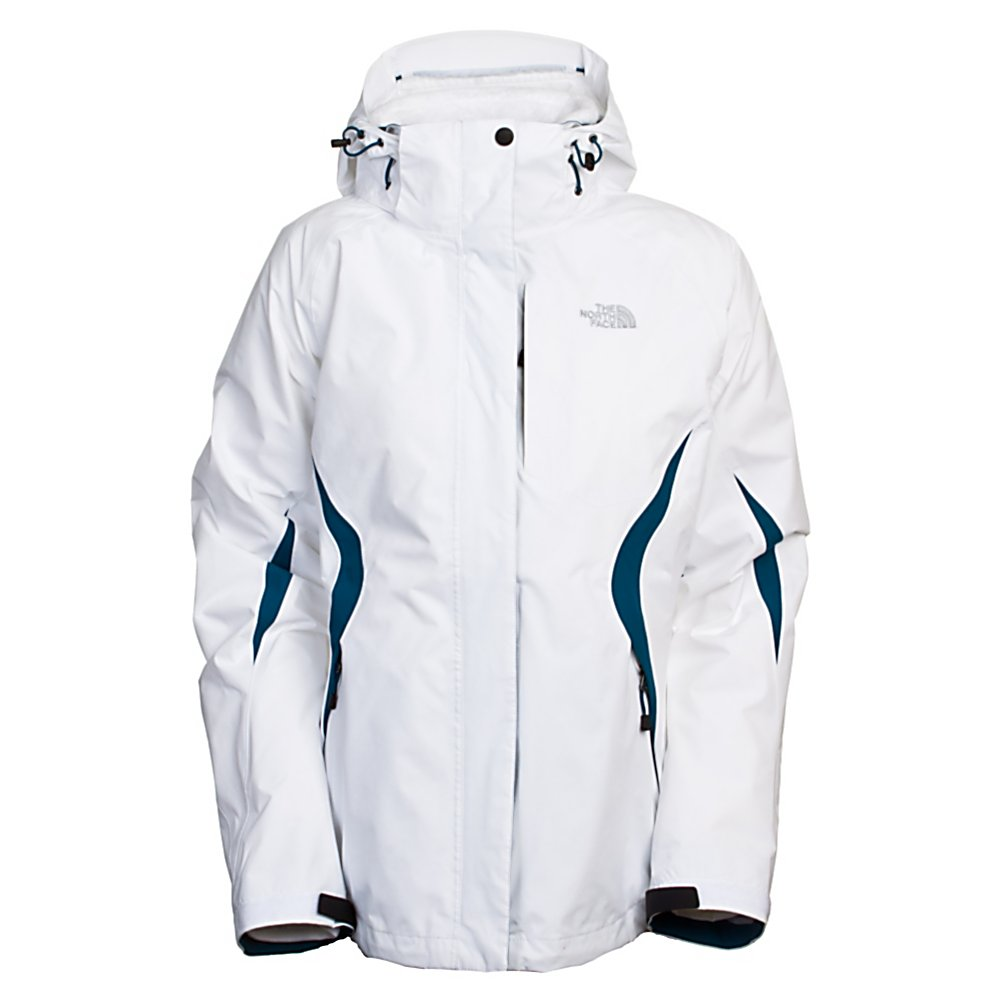 Ski The North Face Boundary Triclimate Womens Insulated Ski Jacket - Push your boundaries in this North Face Boundary Triclimate Jacket for Women and stay warm no matter where you go. Combined with a waterproof, breathable, nylon exterior and a high loft, silken interior, you'll stay cozy with this versatile jacket wrapped around your shoulders. Easily zip-in or zip-out the plush silken fleece interior for added or less warmth, or wear each layer as separates for greater versatility. This standard fitting North Face Boundary Triclimate Jacket offers a 3 in 1 style with many features such as a fully adjustable removable drop hood with lower face protection keeping you outdoors longer, brushed collar lining keeps you warm with softness, tons of pockets to carry all your stuff, pit zips for awesome ventilation when temperature changes or as you work harder at your sport, the center front flap and internal stormflap keeps the warmth in as you feel toasty to stay outside longer. Waterproof and breathability to the extreme with the nonabrasive molded cuff tabs with elastic-bound cuffs and hem cinch-cord locks in the heat as you heat up any winter outdoor activity. Having a Lifetime Warranty secures your choice of being the wearer of The Triclimate Jacket. Features: Center double storm flap with Velcro closure , Internal chest pocket, Two hand pockets, Elastic and Velcro adjustable cuffs, Hem cinch-cord, Triclimate Silken fleece interior, brushed collar lining. Exterior Material: Nylon HyVent, Lining: Yes, Collar Lining: Fleece, Softshell: No, Insula - $174.99