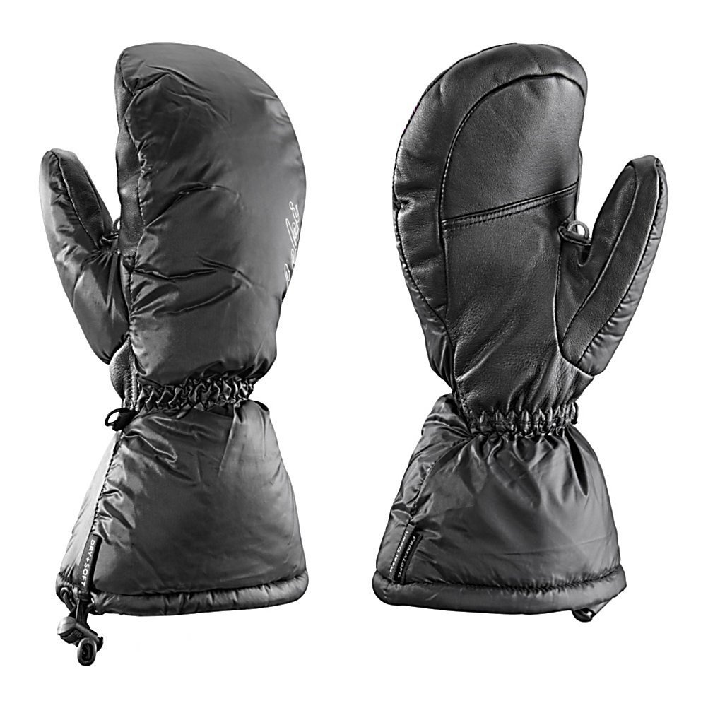 Ski Keep your hands toasty warm this winter with the Leki St. Moritz S Mittens.  Made with a combination of Ny leather and sheepskin these mittens are also super comfortable.  They are stuffed with 100 percent Teddy Fleece down that traps the warmth in to keep your hands toasty warm.  The micro bemberg teddy down fleece lining will keep your hands feeling good inside the Leki St. Moritz Mittens.  Micro Bemberg Teddy Fleece Down and Primaloft Lining,  Primaloft Insulation,  Glove/Mitten Insulation: Down, Glove Weather Condition: Frigid, Glove Quality: Best, Touch Screen Capable: No, Down Filled: Yes, Cuff Style: Over the cuff, Pipe Glove: No, Breathable: Yes, Waterproof: Yes, Glove Outer Fabric: Leather, Wristguards: No, Use: Ski/Snowboard, Type: Mitten, Race: No, Battery Heated: No, Warranty: One Year, Material: Ny soft leather/Sheepskin, Removable Liner: No - $129.95
