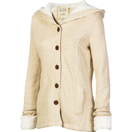 Surf The Billabong Women's Little Excursion Jacket hides its comfort-loving coziness in the sleek shape of a pea coat. Button up in this soft jacket you want a clean, stylish look but you aren't willing to skimp on your creature comforts. - $61.23