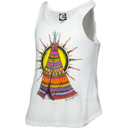 Surf She'll love adding color to her skin and her wardrobe at the same time with the Billabong Tipi Love Girls' Tank Top. - $10.77