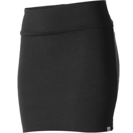 Surf Nothing's easier than a cotton stretch mini, and the soft knit Billabong Women's Work It Mini Skirt features a fold-over waistband that adds easy style and all-day comfort. As far as versatile wearability You know what to do with a miniyou pull it on anytime for instant sass. - $25.16