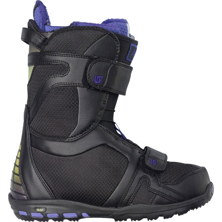 Snowboard Play in the park all day with the freestyle-friendly Burton Womens Axel Snowboard Boot. This featherweight, medium-flexing boot features an articulating cuff that allows the upper and lower zones of the boot to flex independently, so you can get tweaked to the max without shell resistance or creasing and with maximum heel hold. - $279.95