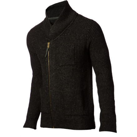 Stand out from the crowd of identical pullover hoodies with the Comune Tate Shawl Collar Men's Sweater. It has a slim fit, a shawl collar, and an offset zipper for a more fashionable look, and the thick wool blend fabric will keep you toasty when you head downtown on frigid evenings. - $116.17
