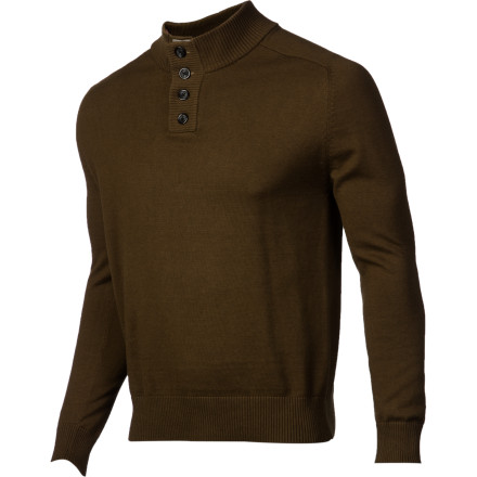 When the weather gets too brisk for an ordinary long-sleeve shirt, throw on the Comune Kalvin Men's Sweater instead. It has a cotton and wool blend fabric to provide extra warmth without being heavy, and the button-up collar helps you to keep your neck shielded when chilly winds blow through. - $45.07
