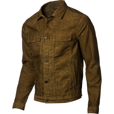 Change up your style with the Men's Jay Jacket, Comune's unique take on the denim jacket. It features classic jean jacket styling, but with a waxed denim shell that provides a refreshing look without straying too far from the original. - $61.57