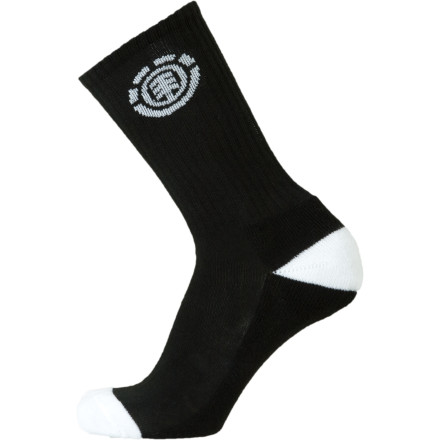 Skateboard You can have the techiest, most awesome skate shoes ever, but they're not worth a damn if youre wearing a crappy pair of socks. Get the snug, soft, and stretchy Element Icon Socks, and youre good to go. - $5.95