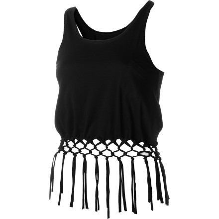 Skateboard Rock the Element Women's Faith Tank Top with your smokin' hot leather pants and watch how easily you get into the club and served a cocktail. Although it also helps to know the bouncer and bartender. - $27.62