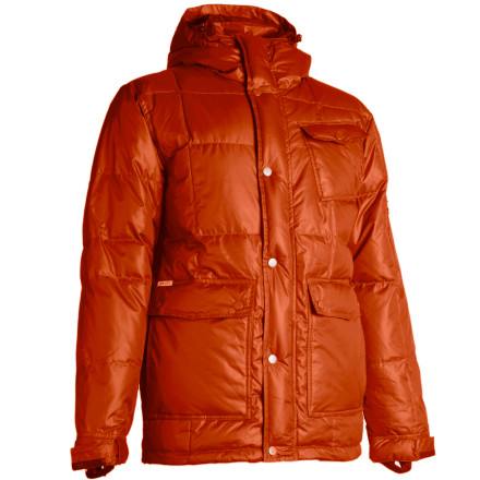 Defy the police state and incite rebellion when you shred in the Holden Puffy Down Jacket. Social unrest holds all in an icy grip within the crowded lift line, but it's no match for the warming power of 550-fill down insulation. Taped seams help keep out leakage from wildly thrown beer bottles or Molotov cocktails. - $148.48