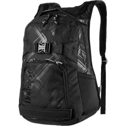 Skateboard Skate to the top of the class with the Hurley Honor Roll 3 Skate Backpack. - $31.47