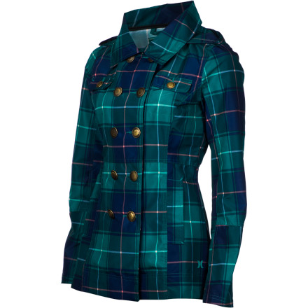 Surf There's no need for your to surrender your stylish look just because there's a chance it might rain pull on the Hurley Women's Winchester Slicker, and you'll be looking good not matter what the weather decides to do. - $47.67