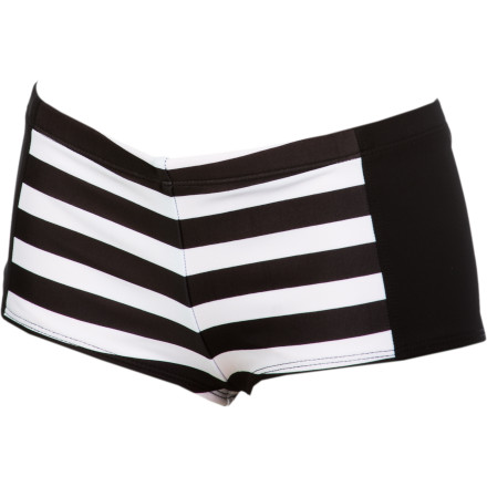 Surf Hurley Surfside Stripe Boyshort Bikini Bottom - Women's - $44.95