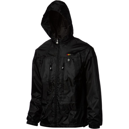 When the wind starts whipping, keep it at bay with the LRG Core Collection Men's Windbreaker. The nylon fabric helps keep the chilly breeze off your skin, and if the wind is accompanied by a bit of rain just zip the hood out of the collar to keep your head from getting soggy. - $78.36
