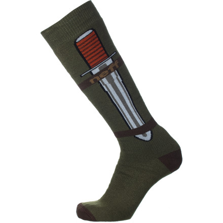 Snowboard The Neff Theme Sock lets you live out your lifelong dreams of having a peg leg, without any of the painful amputation. - $19.95