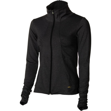 Fitness A warm-up jacket in a cool style and with hot look, the heathered, zip-up O'Neill Women's Reflection Jacket wicks away moisture so you stay stylish, not swampy. Thumbholes and a handy pocket give you coverage and convenience. Look fabulous and stay cozy on your morning run or fetching your coffee. - $80.96
