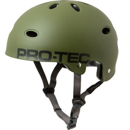 Skateboard Single-impact foam helmets require replacement after a single hit, but the Pro-Tec B2 Skate SXP Helmet has multiple-impact foam so you can biff it more than once on a handrail or two without having to spring for a new lid. An ABS shell offers rigid protection on the outside, and on the inside soft liner takes the brutality out of racking your head on the concrete. Pro-Tec gave this brain bucket a classic shape, stainless hardware, and soft webbing straps to complete the package. - $32.99
