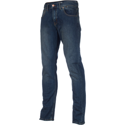 Skateboard The Quiksilver Revolver Pant presents a classic straight fit, stylish washes, and a little bit of stretch for added comfort during any activity from horseback riding to skateboarding. - $59.50