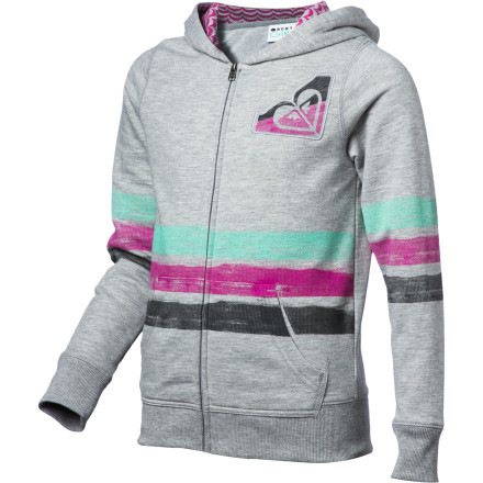 Surf Roxy Dayglow Full-Zip Hoodie - Girls' - $28.60