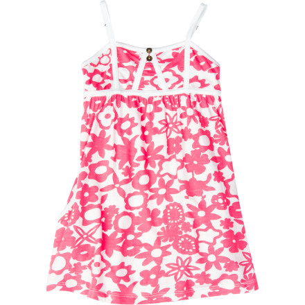 Surf After your little beach bum has showered up and put on the Roxy Girls' Smooch Dress, take her out to the ice cream parlor for her favorite treat. - $23.40