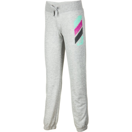 Surf Soccer in the park, walk on the beach, afternoon nap Yes, yes, and yes. The Roxy Girls' Black Light Pant likes what you're thinking and is game for your everyday agenda. Comfy and cozy in polyester-blend burnout fleece, this light pant was made to please. - $26.60