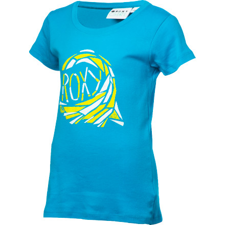 Surf Fall under the spell of the Roxy Girls' Hypnotic Tropic T-Shirt, with its stylized wave graphic and baby-tee fit. Girlish in shape but sporty in feel, it strikes the perfect balance for a beach-loving little lady. - $18.00