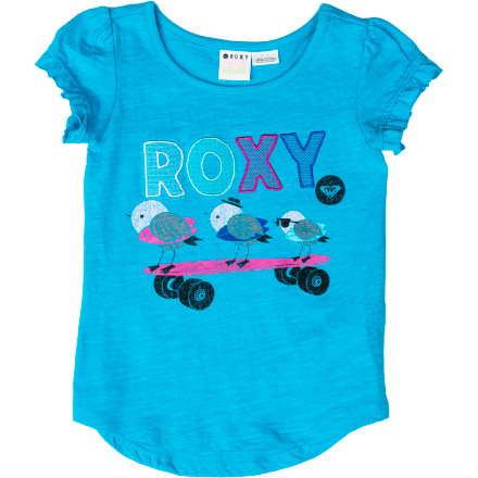 Surf When you pull out the Roxy Girls' Turn It Around Short-Sleeve T-Shirt from your little angel's closet, she claps. - $18.20