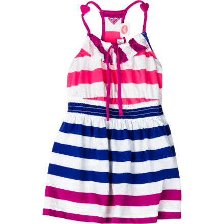 Ski Your little gal may not be so happy about having to go to the Kids' Club at the resort for the day, but you can sweeten the deal by dressing her in the Roxy Toddler Girls' Bittersweet Dress. She'll be so excited about wearing this cute, comfy dress that she'll permit you to slip away on your scuba excursion, and she'll enjoy its cool comfort all day as she draws, hunts for lizards, and makes new friends. - $22.10